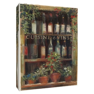 """PTM Images 9-154511  PTM Canvas Collection 10"""" x 8"""" - """"Wine and Herbs II"""" Giclee Wine Textual Art Print on Canvas"""