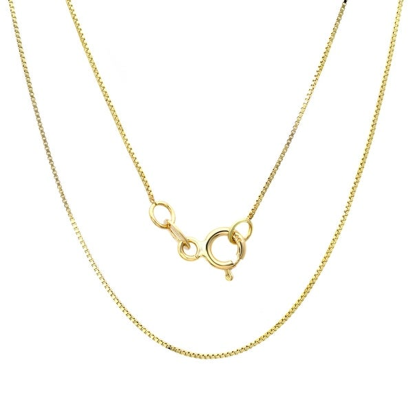 14k Yellow Gold .50 mm Box Chain Necklace (14-30 Inch). Opens flyout.