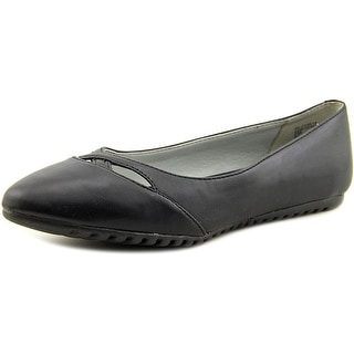 White Mountain Shea Women Pointed Toe Synthetic Black Flats
