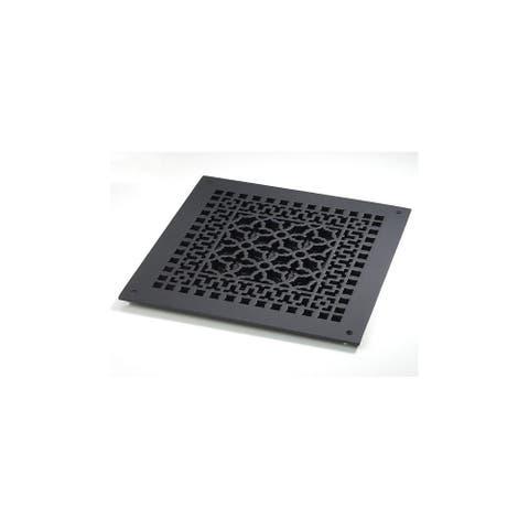 """Reggio Registers 1414-NH Scroll Series 12"""" x 12"""" Floor Grille without - Cast Iron"""