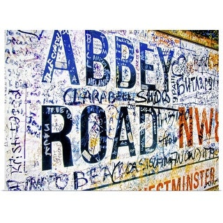 """""""Abbey Road road sign, London"""" Poster Print"""