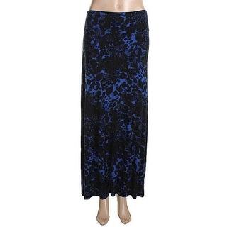 Kensie Womens Jersey Printed Maxi Skirt - S