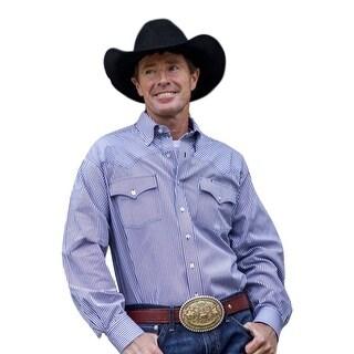 Miller Ranch Western Shirt Mens Long Sleeve Pocket Navy DTW2201066