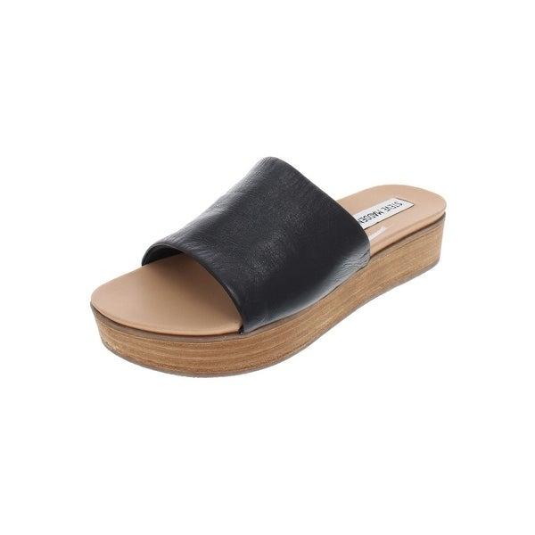 099667be3c Shop Steve Madden Womens Genca Platform Sandals Leather Slide - Free ...