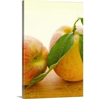 """Studio shot of peaches"" Canvas Wall Art"