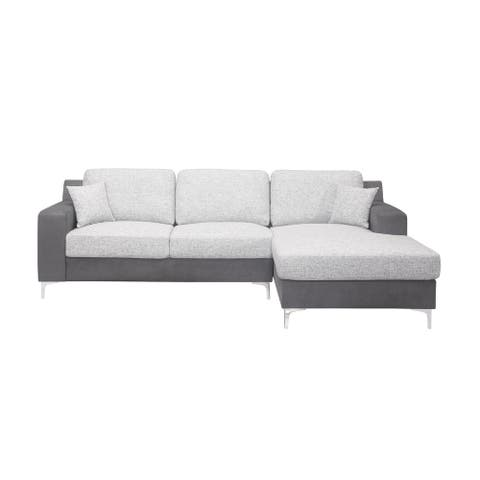 Global Furniture USA Two Tone Grey sectional