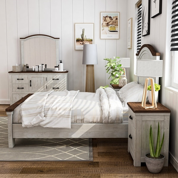 Furniture of America Ynez Transitional White 5-piece Bedroom Set. Opens flyout.