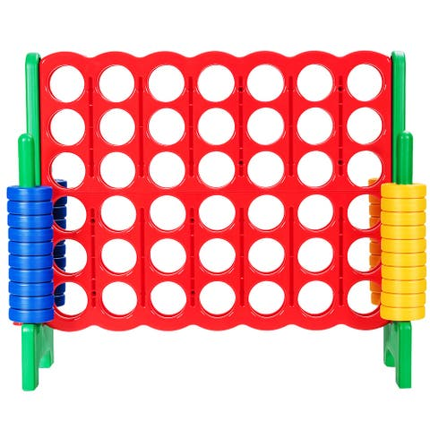 Costway Jumbo 4-to-Score 4 in A Row Giant Game Set