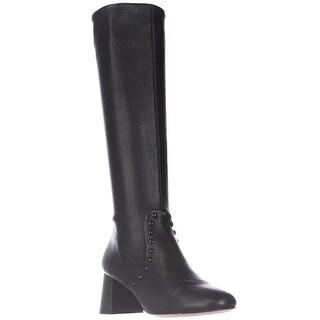 Coach Britney Studded Knee High Fashion Boots, Black