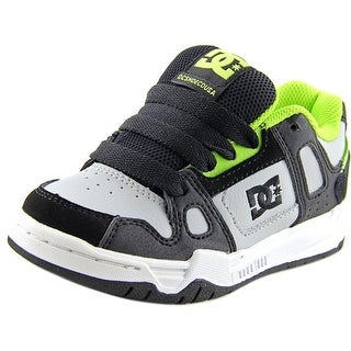 DC Shoes Youth's Stag Youth  Round Toe Leather Gray Skate Shoe