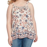 Jessica Simpson Womens Plus Floral Knit Top