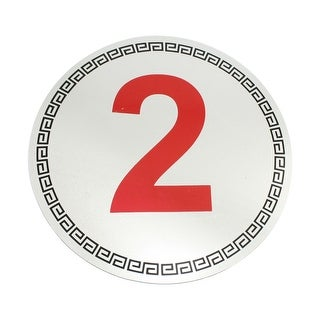 Unique Bargains Fashion Show Identifying Marking Symbol Number 2 Sign Sticker Silver Tone