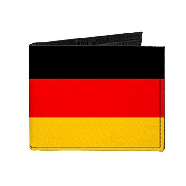 Buckle-Down Canvas Bi-fold Wallet - Germany Flag Accessory