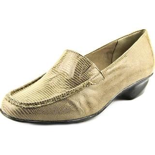 Walking Cradles Terrace Women N/S Round Toe Leather Brown Loafer