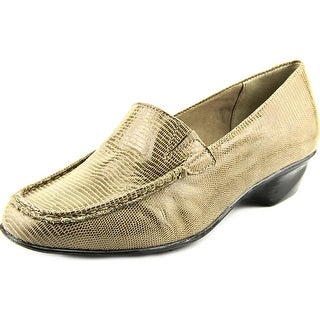 Walking Cradles Terrace Women W Round Toe Leather Brown Loafer