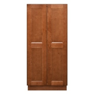 "Sunny Wood ESP2454B-A  Ellisen 24"" Wide x 54"" High Double Door Pantry Cabinet - Amber Spice"