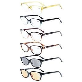 Eyekepper 6-pack Vintage Plastic Frame Spring Hinges Reading Glasses+2.75