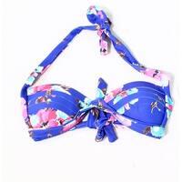 Cocoship Blue Women's Size Small S Floral Bikini Top Swimwear