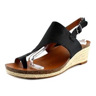 Lucky Brand Janessa Women Open-Toe Leather Slingback Sandal