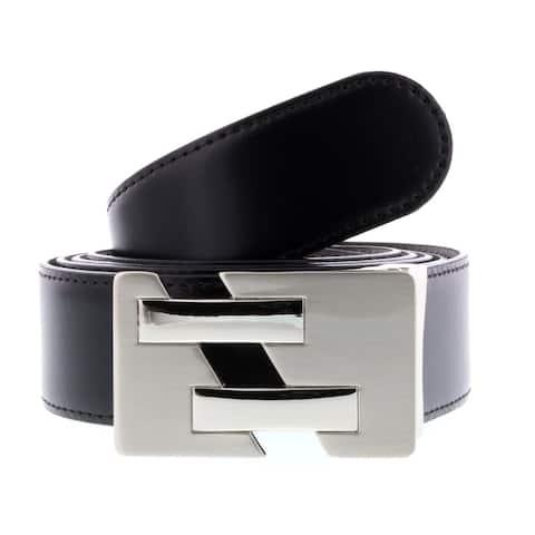 HS Collection HSB 8099 Black/Brown Reversible/Adjustable Mens Belt