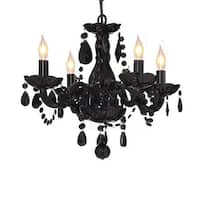 Jet Black Crystal Chandelier Lighting Light fixture