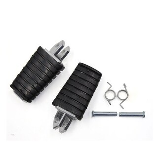 Pair Rubber Aluminum Alloy Nonslip Motorcycle Front Foot Step Padal For Yamaha