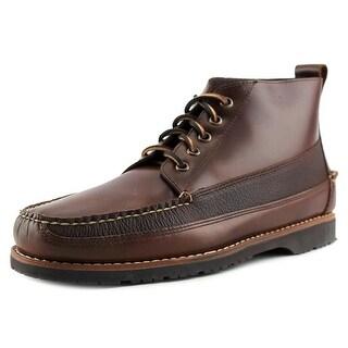 Bass Scott Men Round Toe Leather Tan Boot