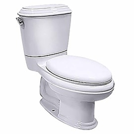 White China Elongated Toilet with Seat