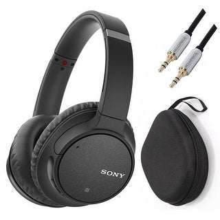 Sony WH-CH700N Wireless Noise Canceling Headphones (Black) with Case and Cable