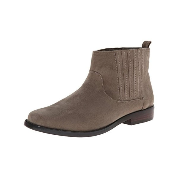 G.H. Bass & Co. Womens Blaine Ankle Boots Faux Suede Pull On