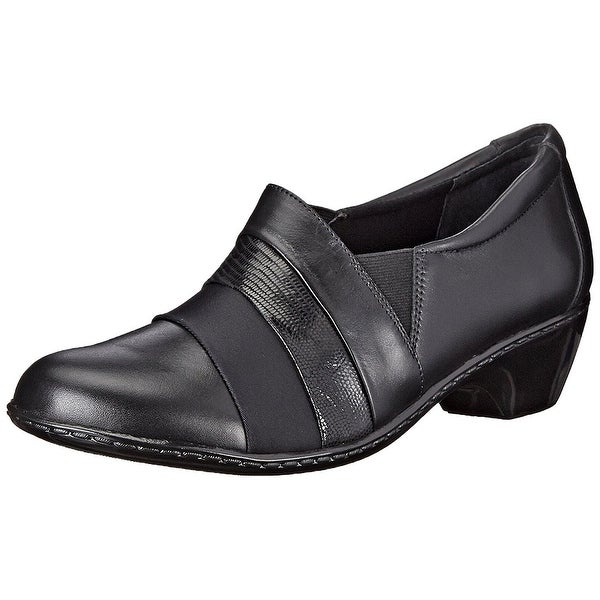 Walking Cradles Womens Cullen Leather Closed Toe Classic Pumps, Black, Size 7.5