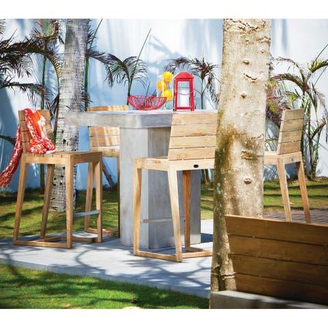 Mykonos Indoor Outdoor Reclaimed Teak Bar Chair