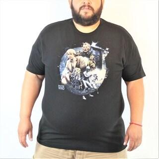 Doctor Who Peter Davidson Men's Black T-shirt