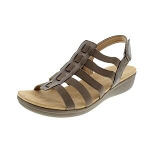 Naturalizer Womens Wyonna Metallic Slingback Strappy Sandals - 10.5 medium (b,m)
