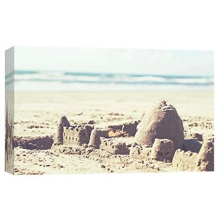 "PTM Images 9-102063  PTM Canvas Collection 8"" x 10"" - ""Castles in the Sand"" Giclee Beaches Art Print on Canvas"