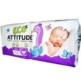 ATTITUDE Diapers - Size 1-2 - 36 ct