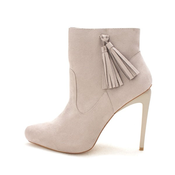 Izabella Rue Cersea Ankle Boots - Light Grey - 7.5
