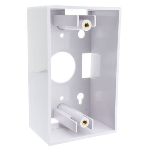 Offex Single Gang Surface Mount Box, White