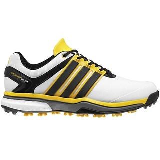Adidas Men's Adipower Boost Running White/Core Black/Bright Yellow Golf Shoes Q44613