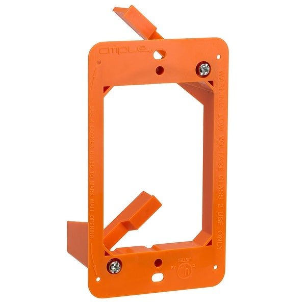 Low Voltage 1 Gang Bracket Mount Single Multipurpose DryWall Mounting Wall Plate