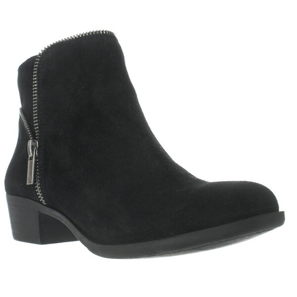 Lucky Brand Boide Zip Accent Ankle Boots, Black