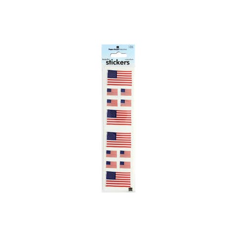 St300p paper house sticker united states flag