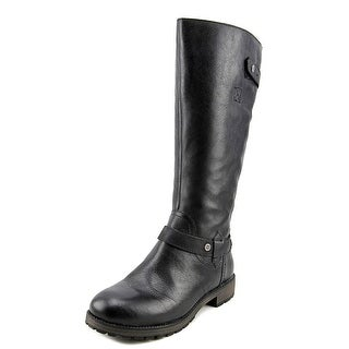 Naturalizer tanita wide calf Women W Round Toe Synthetic Black Knee High Boot