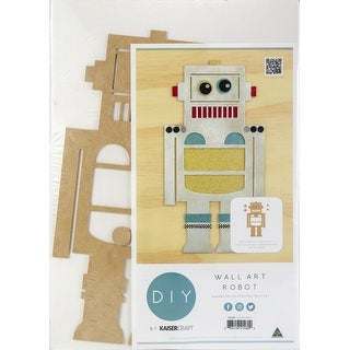 "Beyond The Page Mdf Robot Wall Art-8.75""X17"""