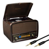 Electrohome Signature Vinyl Record Player Classic Turntable Hi-Fi Stereo System & Bonus 3.5mm Aux Stereo Cable