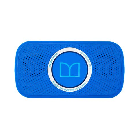 Monster Power Superstar High Definition Bluetooth Speaker Ultra Compact Water-resistant - Neon Blue