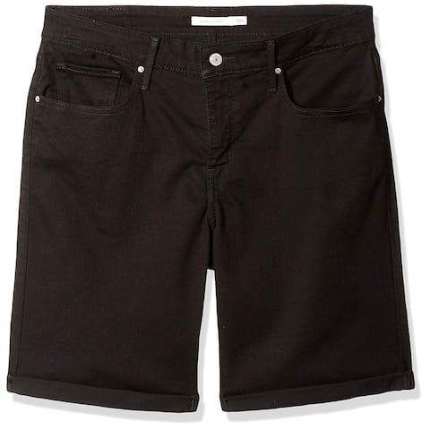 Levi's Women's Plus-Size Shaping Bermuda Shorts,, Blackened Ash, Size 18.0 - 18