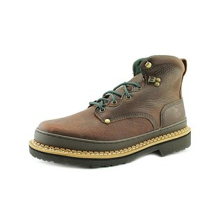 Georgia Georgia Giant Men W Round Toe Leather Brown Work Boot