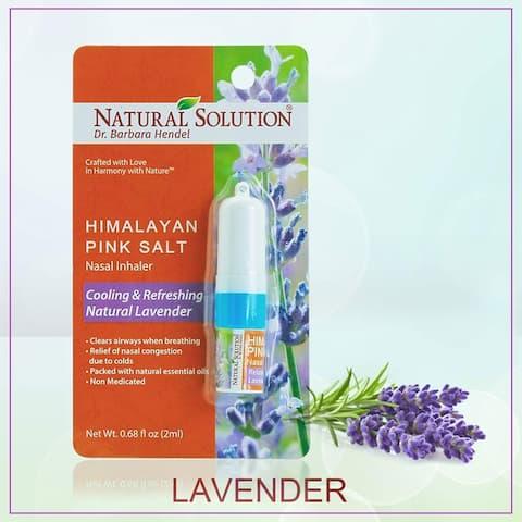 Natural Solution Lavender Nasal Inhaler With Essential Oils