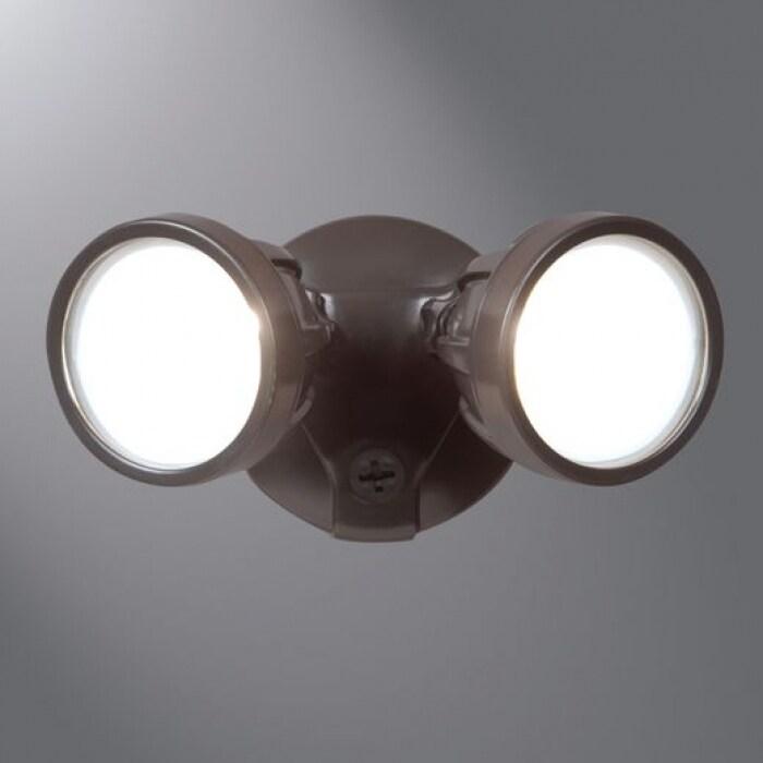 Cooper Lighting Ftr1740l All Pro Led Twin Head Round Flood Light Bronze